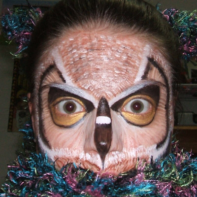 Stage Makeup example, Owl