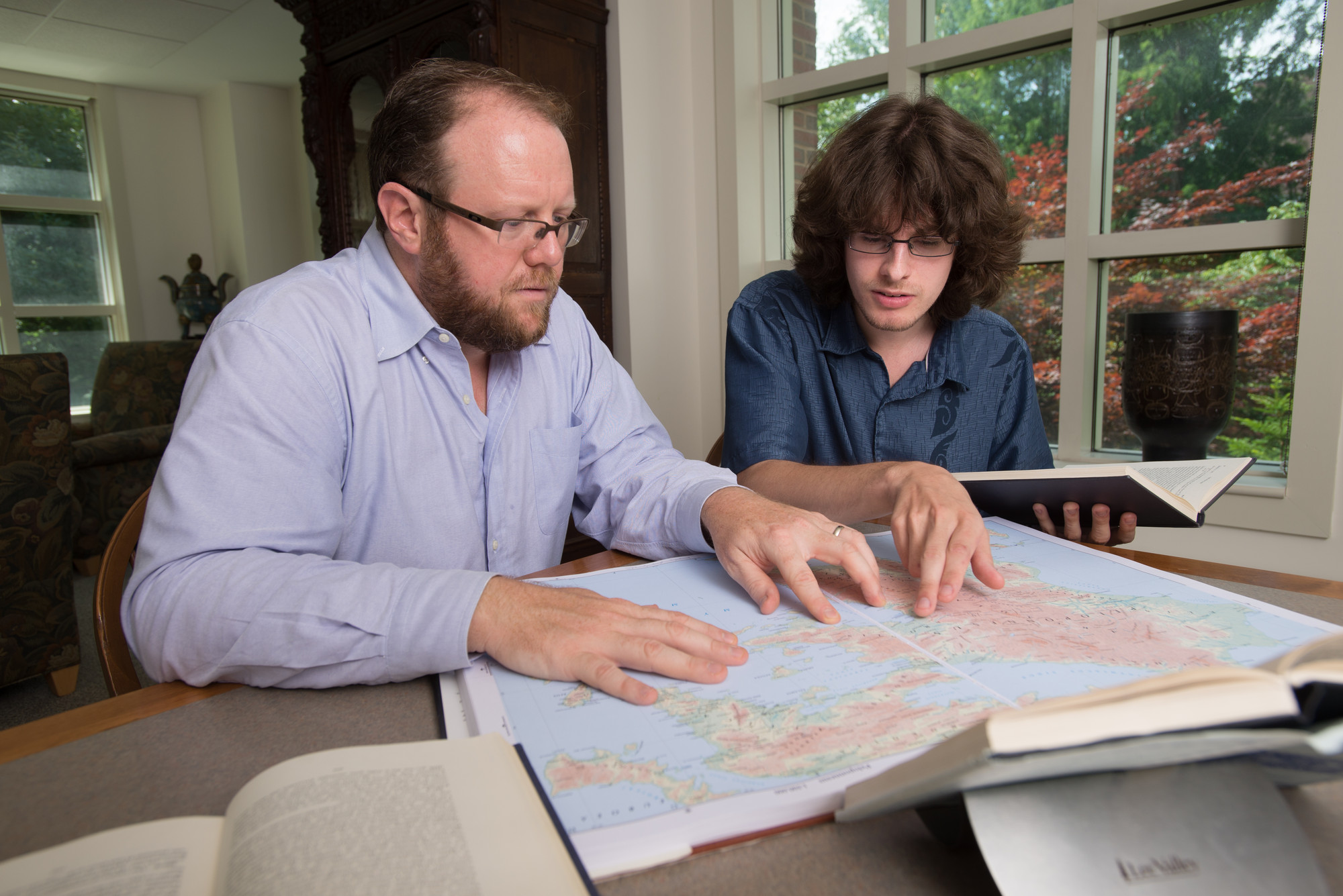 UNH student and professor review map