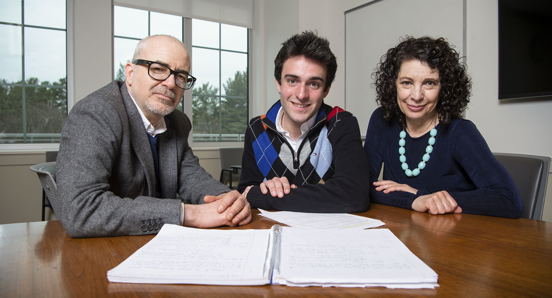 photo of Parker Gauthier with English Department faculty