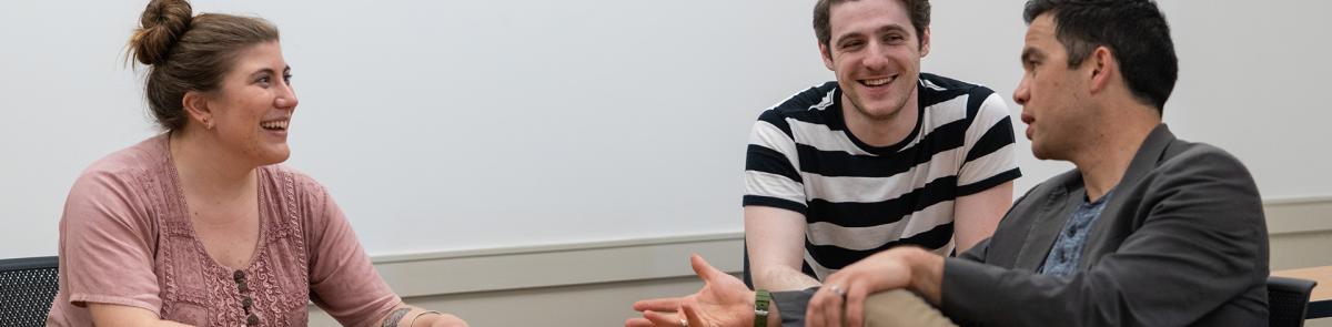 English study students talking