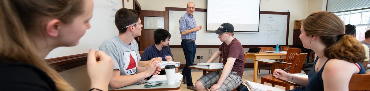 German major students in class