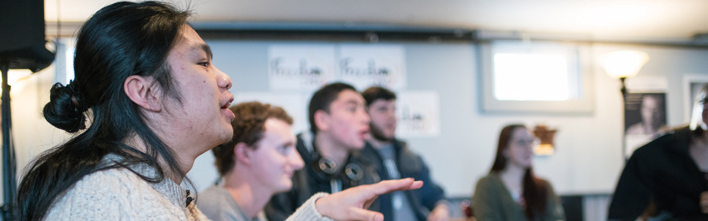 photo of students in discussion