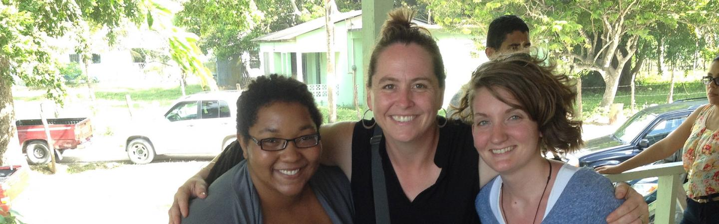 Eleanor Harrison-Buck with colleagues in Belize
