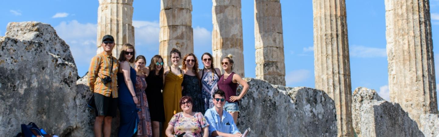 Greece study abroad students