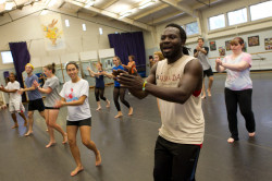 UNH dance students practicing in New Hampshire Hall dance studio