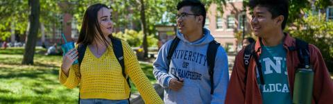 students walking at Murkland