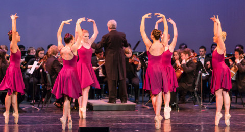 dancers and syphony in performance