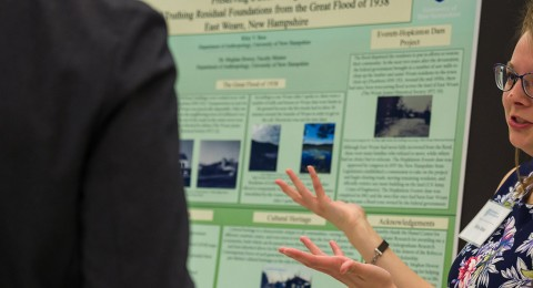 Riley Boss presenting her research