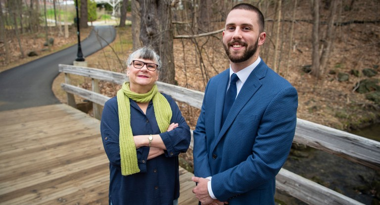 photo of Cameron Brusko and Sue Siggelakis