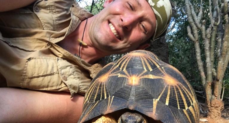 Steve with tortoise