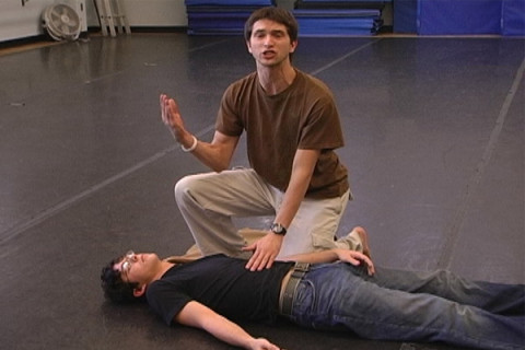 students in acting class
