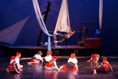 aerial dancers performing on stage