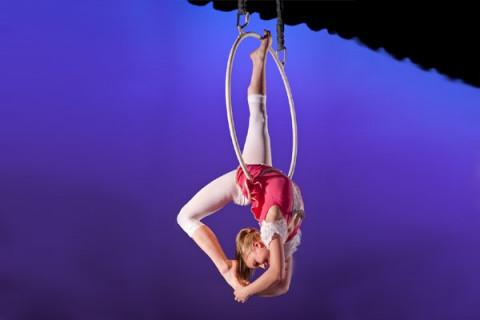 aerial dancer during preformance