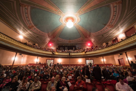 music hall audience