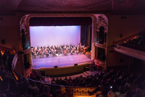 birds eye view of the music hall