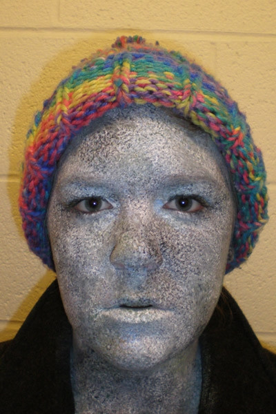 student actor in stage makeup