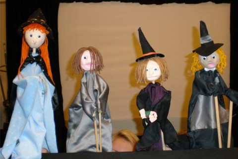 group of puppets