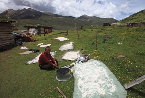 sichuan province hai zi mountain
