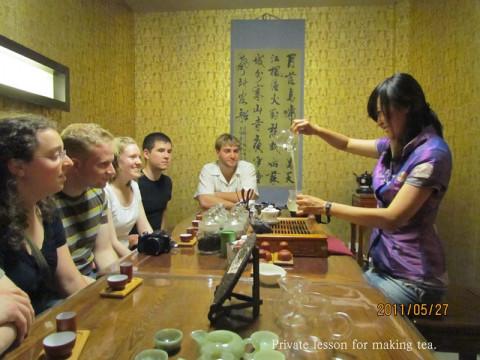 teaching of tea making