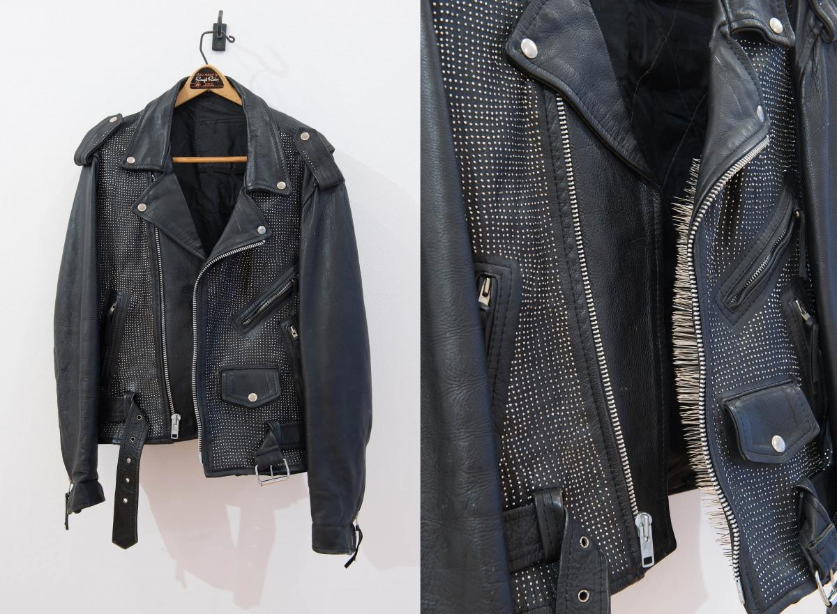 Leather jacket and detail