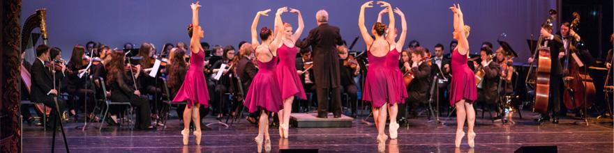 orchestra and dancers