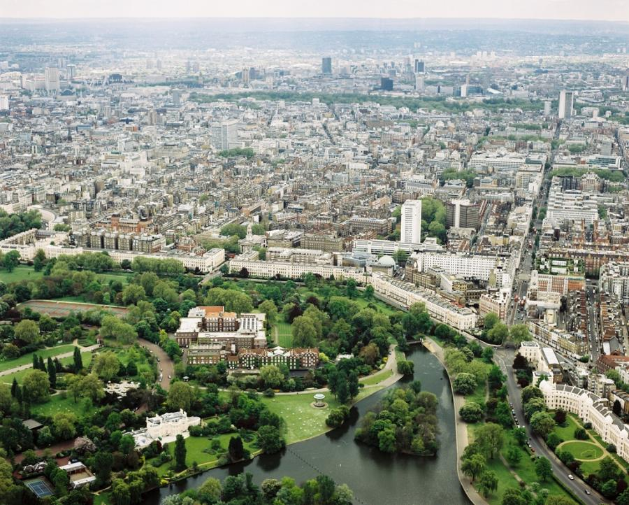 Regents University London aerial view