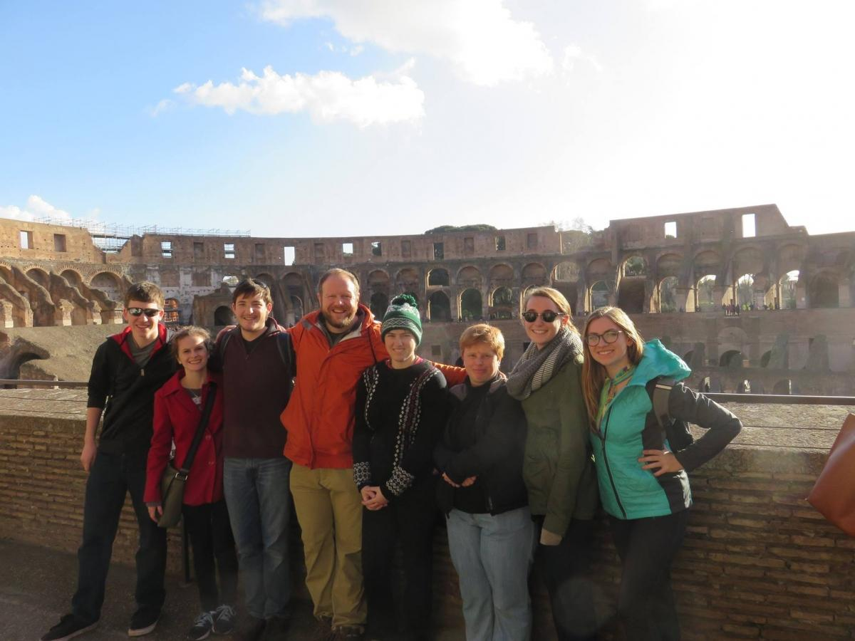 Rome study abroad students