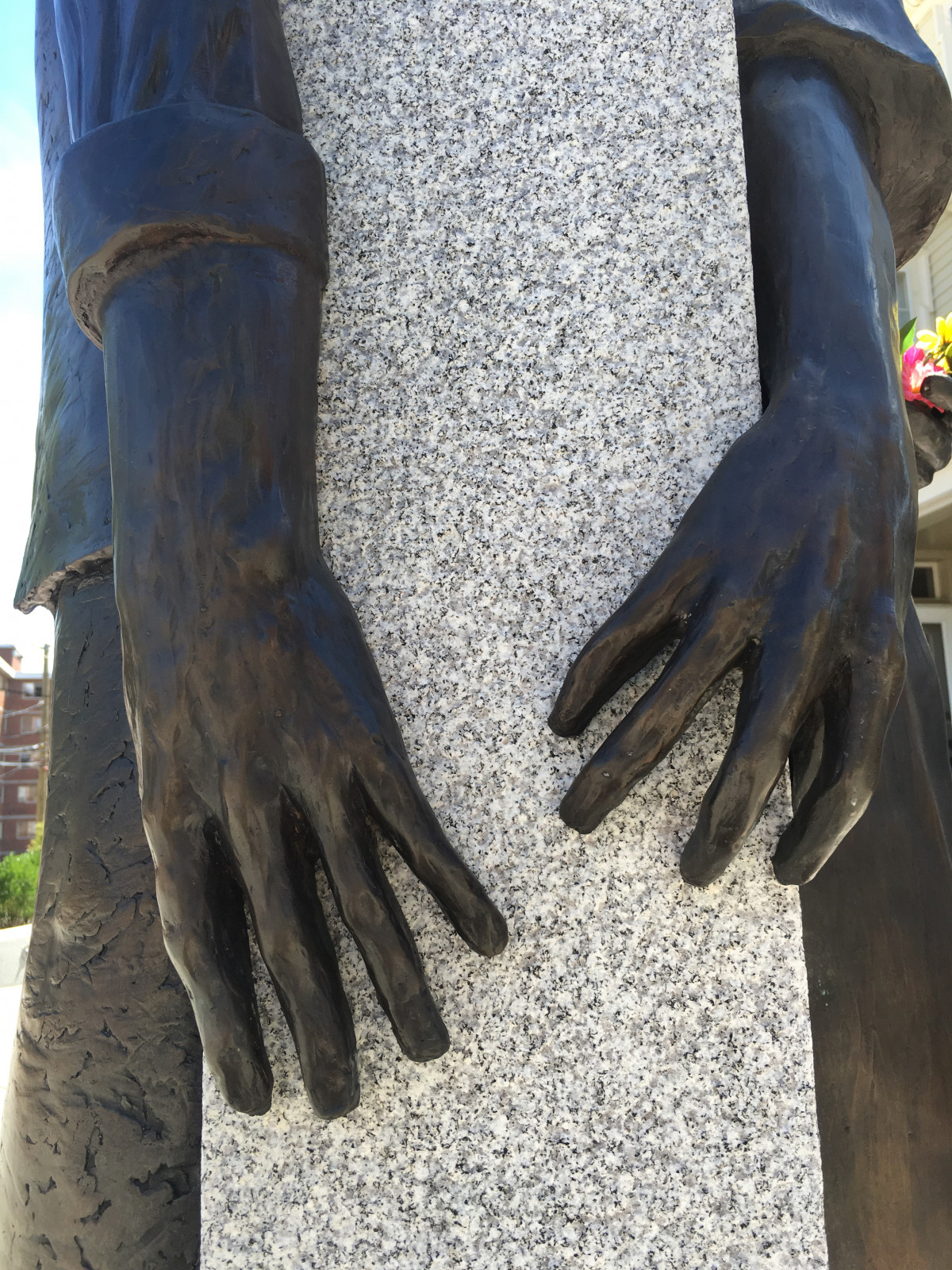 photo of statue at African Burying Ground Memorial Park, Portsmouth