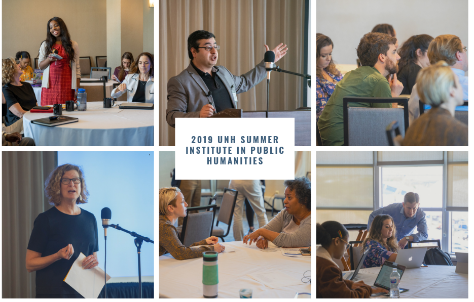 collage of faculty and students participating in 2019 summer institute in public humanities